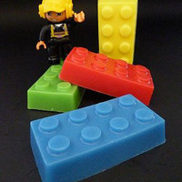Retro To Go: Handmade Lego soap bricks by Brambleberries