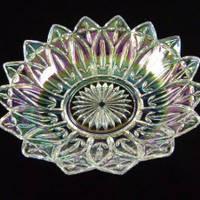 Federal Glass - Petal - Large Iridescent Crystal Bowl