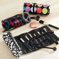 Jet-Set Multi Dot Makeup Brush Roll