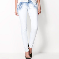 Bershka United Kingdom - Bershka jeans with flower embroidery
