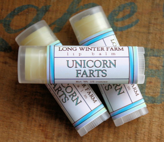 PREORDER Unicorn Farts Lip Balm  One Tube by LongWinterSoapCo
