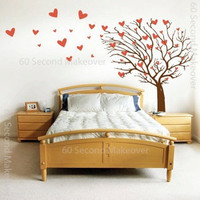 Tree of hearts wall sticker small 50cm tall by 60SecondMakeover