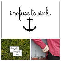 Anchor - temporary tattoo (Set of 2)