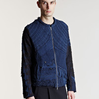 By Walid Men&#x27;s Beaded French Antique Lace And Crochet Jacket