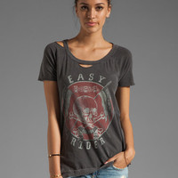 Chaser Easy Rider Deconstructed Tee in Pigment Black from REVOLVEclothing.com