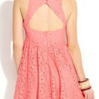 Cut Out Back Lace Dress