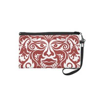 GREEN MAN Red Wristlet Purse from Zazzle.com