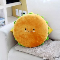 Hamburger Plush Cushion 16&quot; cotton food figure toy doll king burger kawaii cute