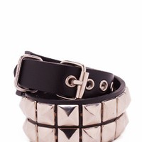 studded wrap-around bracelet &amp;#36;5.80 in BLACKSLVR - Bracelets | GoJane.com