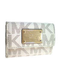 Amazon.com: MICHAEL Michael Kors Flap Coin Purse MK PVC - Vanilla: Shoes