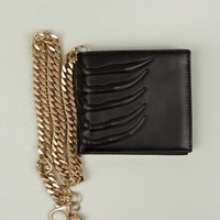Men's Vertebrae Leather Wallet with Key Chain