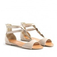Missguided - Edwina Triangle Sandals In Nude