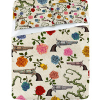 DENY Designs Home Accessories | Belle13 Sweet Guns And Roses Sheet Set