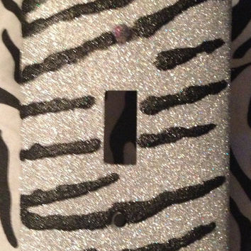 Glitter Black & Bling Outlet or Light Switch Cover
