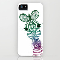        ZOE ZEBRA        iPhone Case by Mnika  Strigel | Society6 for iphone 5 + 4 S + 4 + 3 GS + 3 G + ipod_touc