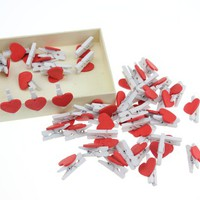 INFMETRY:: Mini Heart Wood Clip - Office Supplies - Home&amp;Decor