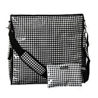 Flee Bags Black Gingham 'Getaway' Oil Cloth Travel Tote | Overstock.com
