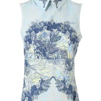 Browns fashion & designer clothes & clothing | ERDEM | 'Lilthe' Floral Printed Silk Top