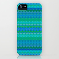 Tribal Diamond Jade iPhone Case by Amy Sia | Society6