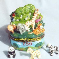 ZOO-Porcelain Hinged Box...with MANY ANIMALS | eBay