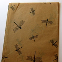 10 Sheets of Dragonfly on Kraft Tissue Paper (20&quot; x 30&quot;)