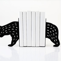 Bookends - Bear- laser cut for precision these metal bookends will hold your favorite books