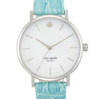 kate spade new york 'metro' embossed leather strap watch | Nordstrom