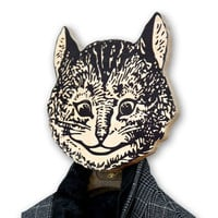 Unique hook - hanger - mask - She - cat a funky decorative article for your home or office