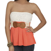 Blocked Lace Tube Top | Shop Tops at Wet Seal