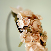 floral head piece with vintage millinery 'sierra' by whichgoose
