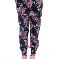 Floral Fit Pants