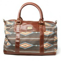 obey - women's rockport weekender bag (charcoal) - obey | 80's Purple