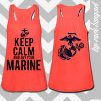 The Few The Proud The Wife - Women's USMC Glitter Tank Top