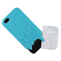 Baby Blue/White Melt Ice Cream Gloss Detachable Hard Case Cover fit for the new Iphone5 5G