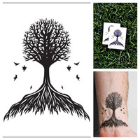 Tree  temporary tattoo Set of 2 by Tattify on Etsy