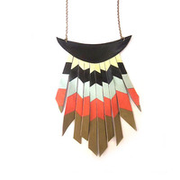 Leather necklace by scotatto on Etsy