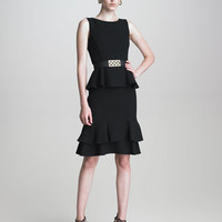 Crepe Peplum Dress