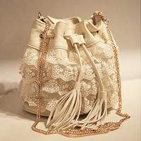 Japanese Vintage Bucket Lace Hangbag