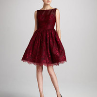Sleeveless Taffeta Cocktail Dress