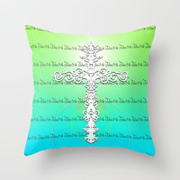 John 3:16 Throw Pillow by Lisa Argyropoulos | Society6