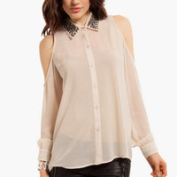 Medallion Button Up Shirt $43