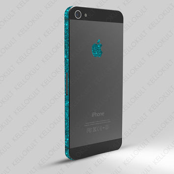 iPhone 5 Sparkling Turquoise Wrap by kellokult on Etsy
