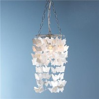 Pearl Capiz Butterfly Curtain Pendant Light - Shades of Light
