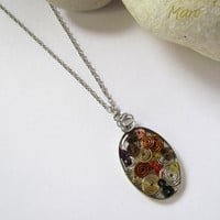 Resin Spirals Pendant Necklace by SandstarJewelry on Etsy