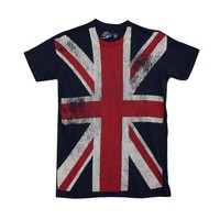 Guys Union Jack Tee, Navy  Journeys Shoes