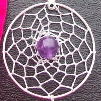 AMAZING AMETHYST  Dreamcatcher with amethyst sterling silver