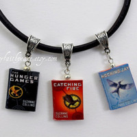THE HUNGER GAMES Leather Necklace Set for Men by maryfaithpeace
