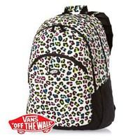 Vans Curls Backpack - (Neon Leopard) White