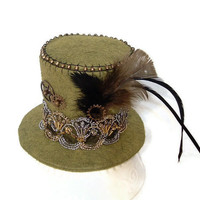 Steampunk Mini Top Hat Victorian Style Hat Band by SeamsVictorian