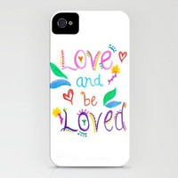 Love and be Loved iPhone Case by Kayla Gordon | Society6
